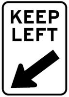 Keep Left Sign