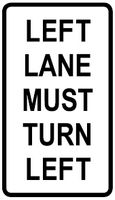 Left Lane Turn Left