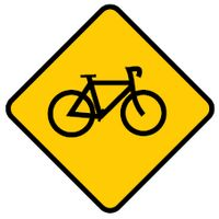 look out for bicycle ahead