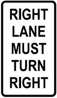 Right Lane Turn Right
