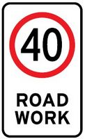 speed limit for road work